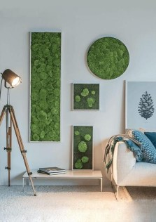 Delicate Natural Moss Wall Art Decorations Ideas To Try Right Now 31
