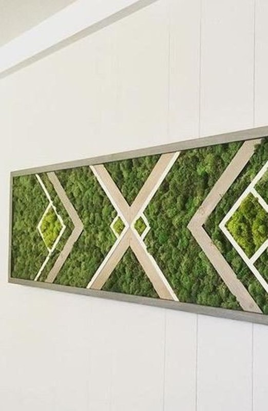 Delicate Natural Moss Wall Art Decorations Ideas To Try Right Now 34