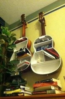Dreamy Racks Design Ideas From Recycle Old Guitars To Try Asap 05