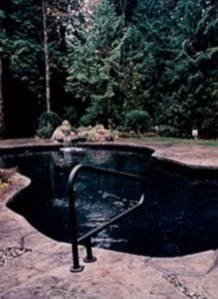 Elegant Black Swimming Pool Design Ideas That All Men Must Know 13