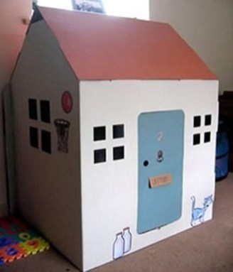 Enchanting Cardboard Playhouse Design Ideas For Kids That You Will Love It 27