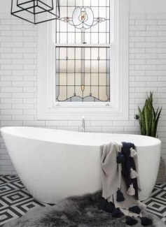 Modern Bathroom Design Ideas With Exposed Brick Tiles 02