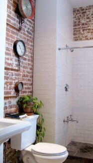 Modern Bathroom Design Ideas With Exposed Brick Tiles 03