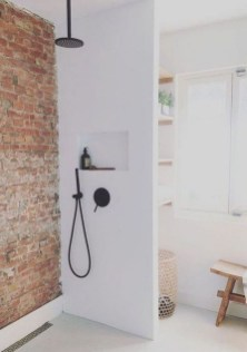 Modern Bathroom Design Ideas With Exposed Brick Tiles 05