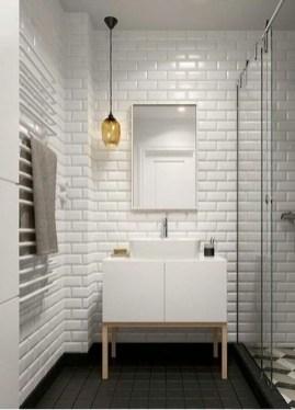 Modern Bathroom Design Ideas With Exposed Brick Tiles 08