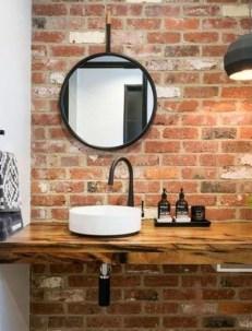 Modern Bathroom Design Ideas With Exposed Brick Tiles 18