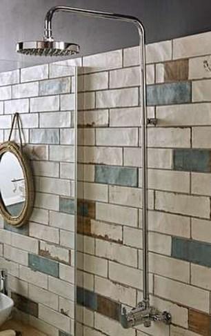 Modern Bathroom Design Ideas With Exposed Brick Tiles 26