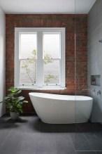 Modern Bathroom Design Ideas With Exposed Brick Tiles 29