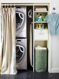 Unusual Laundry Arranging Design Ideas For Small Space To Try 13