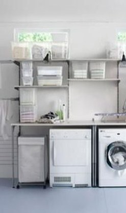 Unusual Laundry Arranging Design Ideas For Small Space To Try 15