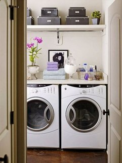 Unusual Laundry Arranging Design Ideas For Small Space To Try 19