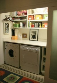 Unusual Laundry Arranging Design Ideas For Small Space To Try 20