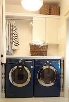 Unusual Laundry Arranging Design Ideas For Small Space To Try 25