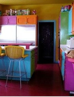 Adorable Rainbow Colorful Kitchens Design Ideas To Looks More Awesome 15