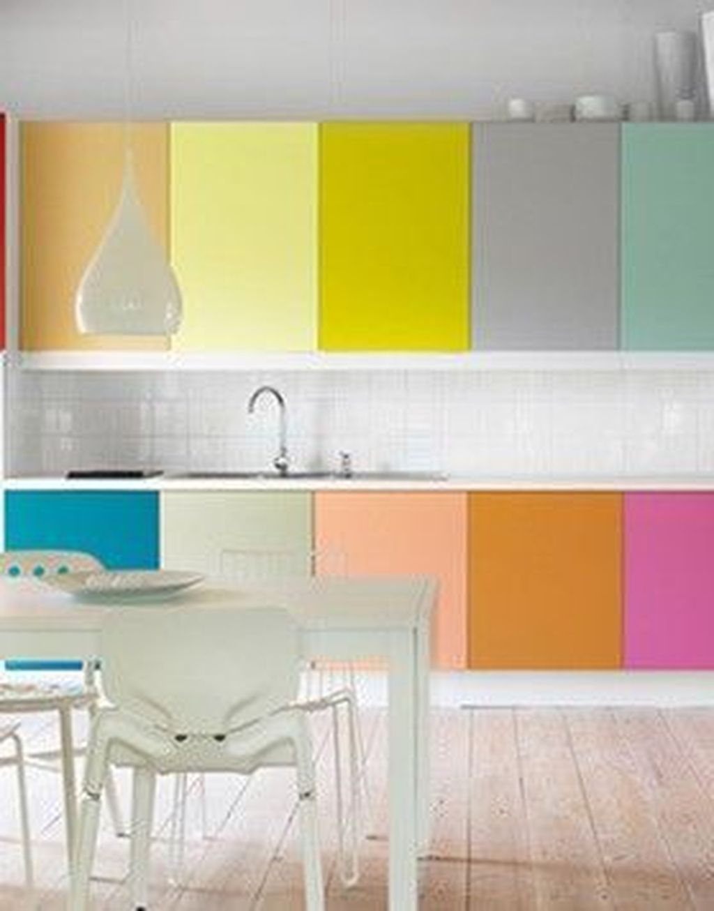 Adorable Rainbow Colorful Kitchens Design Ideas To Looks More Awesome 29