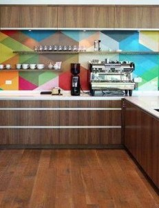 Adorable Rainbow Colorful Kitchens Design Ideas To Looks More Awesome 32