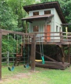 Attractive Outdoor Kids Playhouses Design Ideas To Try Right Now 10