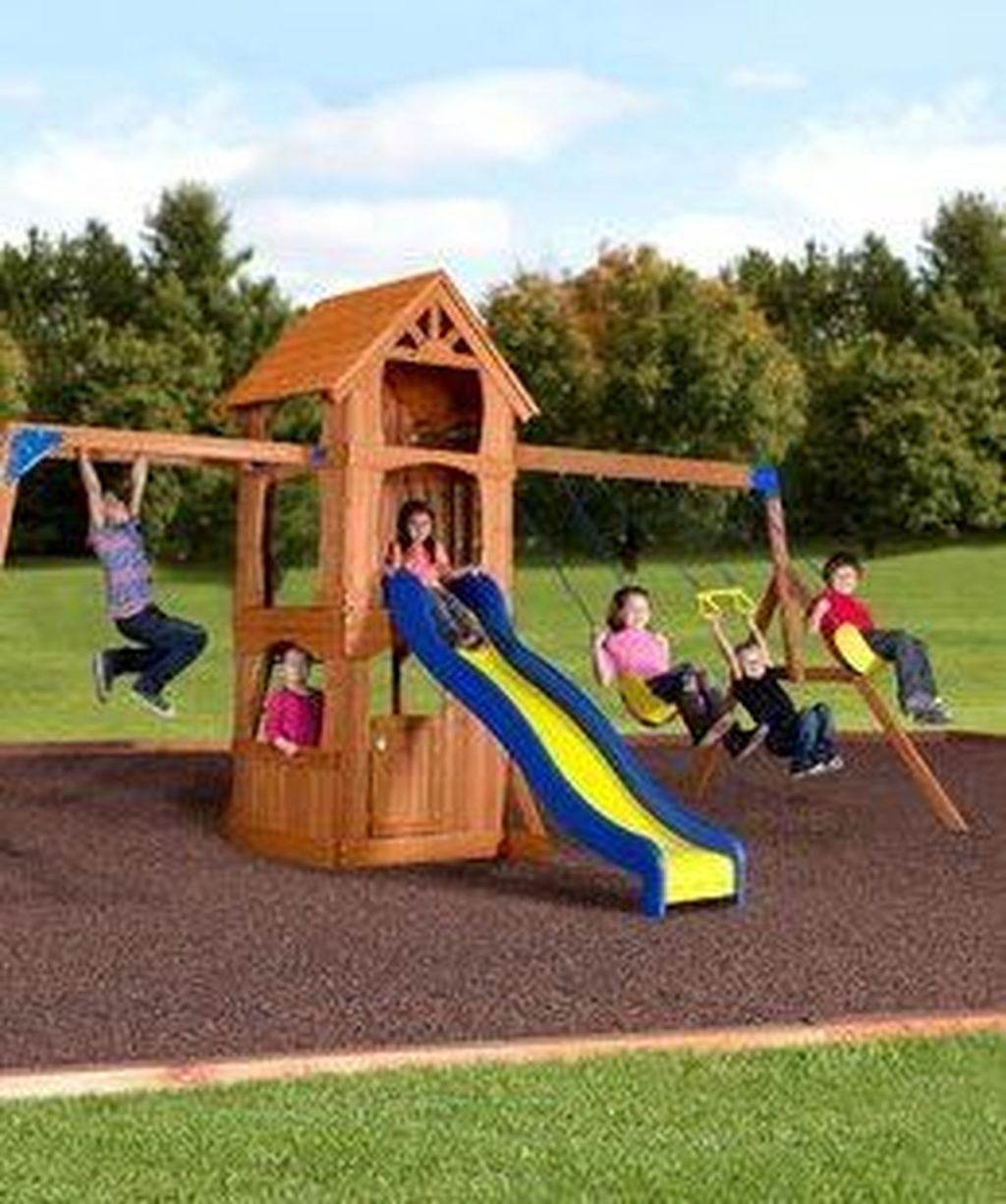 Attractive Outdoor Kids Playhouses Design Ideas To Try Right Now 15