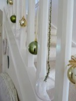 Charming Winter Staircase Design Ideas With Banister Ornaments To Try Asap 28