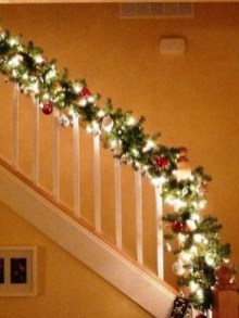 Charming Winter Staircase Design Ideas With Banister Ornaments To Try Asap 32
