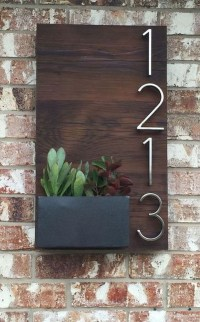 Cool Diy House Number Projects Design Ideas That Looks More Elegant 05