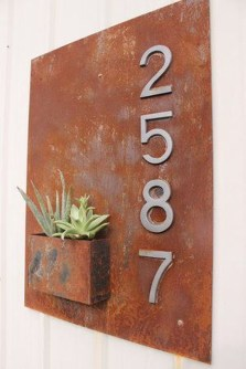 Cool Diy House Number Projects Design Ideas That Looks More Elegant 11
