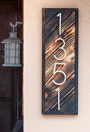 Cool Diy House Number Projects Design Ideas That Looks More Elegant 18