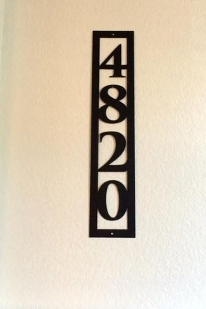 Cool Diy House Number Projects Design Ideas That Looks More Elegant 24