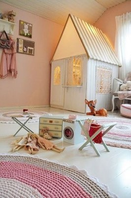 Cute Indoor Playhouses Design Ideas That Suitable For Kids 26