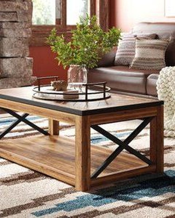 Adorable Wooden Furniture Design Ideas For Rustic Living Room To Have 37