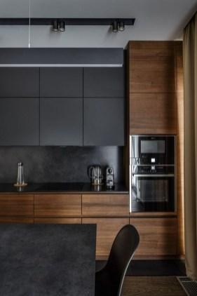Extraordinary Black Backsplash Kitchen Design Ideas That You Should Try 07