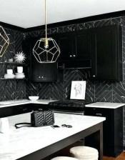 Extraordinary Black Backsplash Kitchen Design Ideas That You Should Try 11