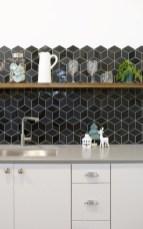Extraordinary Black Backsplash Kitchen Design Ideas That You Should Try 15