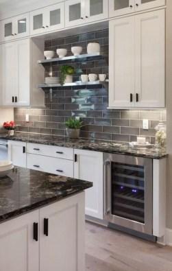 Extraordinary Black Backsplash Kitchen Design Ideas That You Should Try 34