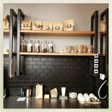 Extraordinary Black Backsplash Kitchen Design Ideas That You Should Try 40