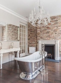 Fabulous Bathroom With Wall Brick Decoration Ideas To Try Asap 02