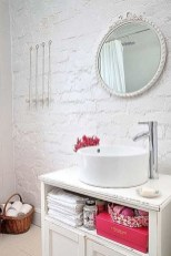 Fabulous Bathroom With Wall Brick Decoration Ideas To Try Asap 04