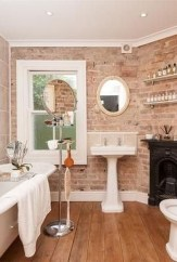 Fabulous Bathroom With Wall Brick Decoration Ideas To Try Asap 14