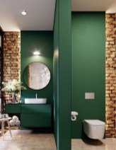 Fabulous Bathroom With Wall Brick Decoration Ideas To Try Asap 34