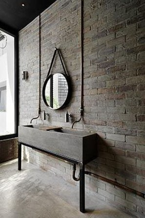 Fabulous Bathroom With Wall Brick Decoration Ideas To Try Asap 39