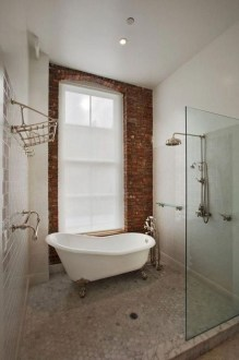 Fabulous Bathroom With Wall Brick Decoration Ideas To Try Asap 40