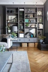 Interesting Living Rooms Design Ideas With Shelving Storage Units 15