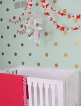 Relaxing Baby Nursery Design Ideas With Polka Dot Themes To Try Asap 21