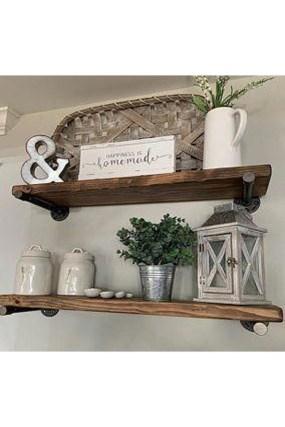 Unique Living Room Floating Shelves Design Ideas For Great Home Organization 25