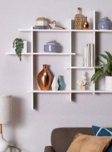 Unique Living Room Floating Shelves Design Ideas For Great Home Organization 30