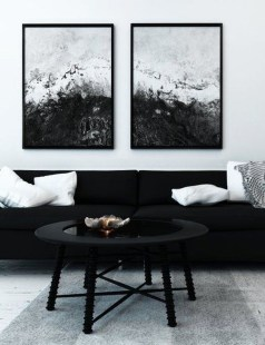 Unusual Black Living Room Design Ideas For More Enchanting 02
