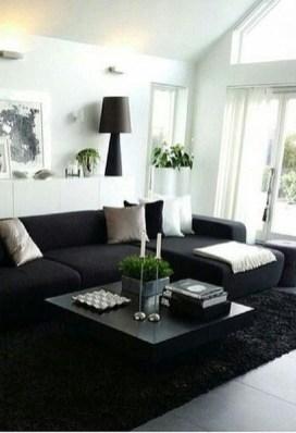Unusual Black Living Room Design Ideas For More Enchanting 06