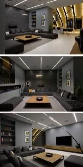 Unusual Black Living Room Design Ideas For More Enchanting 14