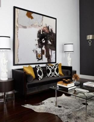 Unusual Black Living Room Design Ideas For More Enchanting 35