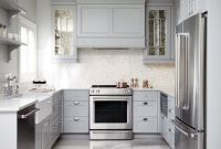 Kitchen Cabinets In White And Grey